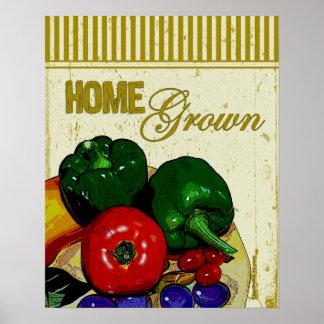 Poster de cosecha propia de las verduras