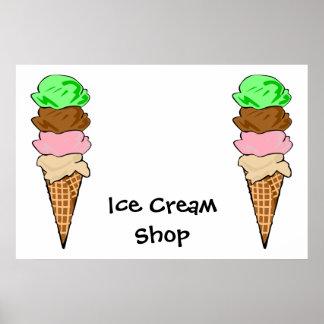Poster de CreamShop del hielo