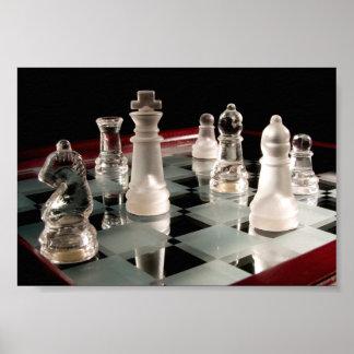 Poster de cristal del ajedrez