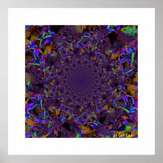 Poster de cristal púrpura