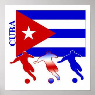 Poster de Cuba del fútbol