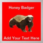 Poster de Customizeable del tejón de miel