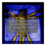 Poster de da Vinci sobre la maestría de sí mismo