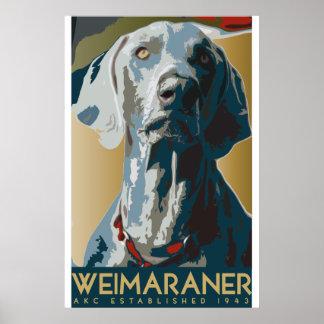 Poster de DEC del arte de Weimaraner