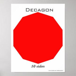 Poster de Decagon del polígono