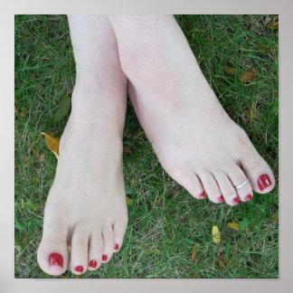 Poster de dedos del pie pulidos