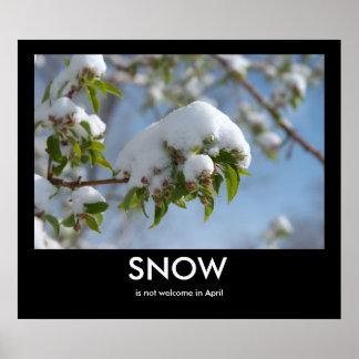 Poster de Demotivational de la nieve de abril