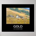 Poster de Demotivational del oro