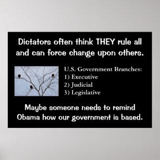 Poster de dictadores Force Change 36x24