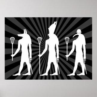 Poster de dioses de LaCrosse - blanco en oscuridad