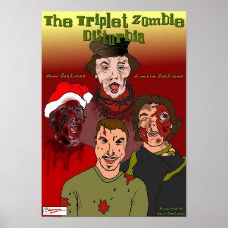 Poster de Disturbia del zombi del trío