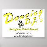 Poster de DJ del baile