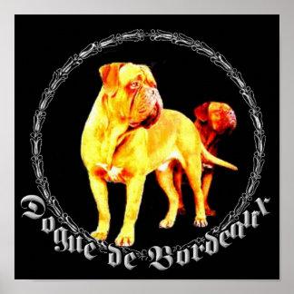 Poster de Dogue de Bordeaux
