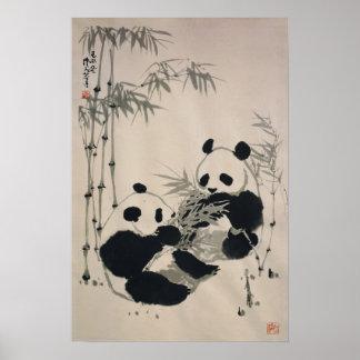 Poster de dos pandas