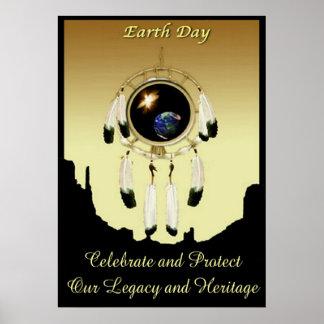 POSTER de Dreamcatcher del Día de la Tierra