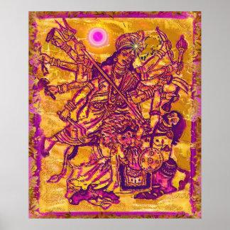 Poster de Durga de la diosa
