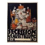 Poster de Egon Schiele- para la secesión de Viena Tarjeta Postal
