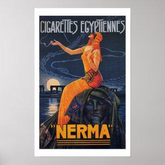 Poster de Egyptiennes de los cigarrillos de NERMA