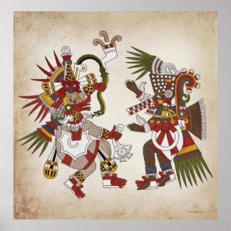 Poster de Ehecatl y de Tezcatlipoca