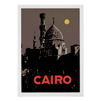 Poster de El Cairo del vintage