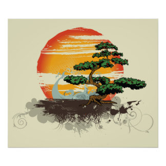 Poster de encargo asiático de la impresión de los