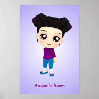 Poster de encargo de Chibi del sitio de los chicas