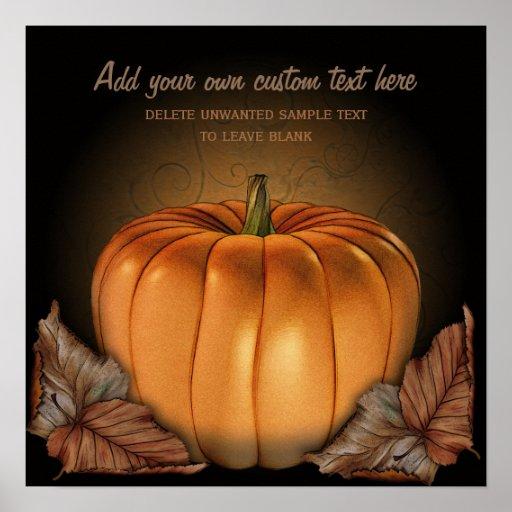 Poster de encargo de Halloween de la calabaza giga