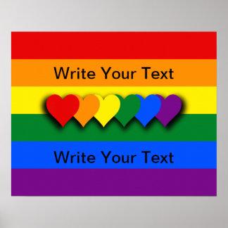 Poster de encargo de la bandera de LGBT