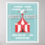 Poster DE ENCARGO del acontecimiento del carnaval