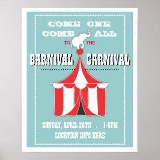 Poster DE ENCARGO del acontecimiento del carnaval Póster