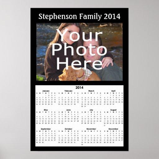 Poster de encargo del calendario de la foto 2014