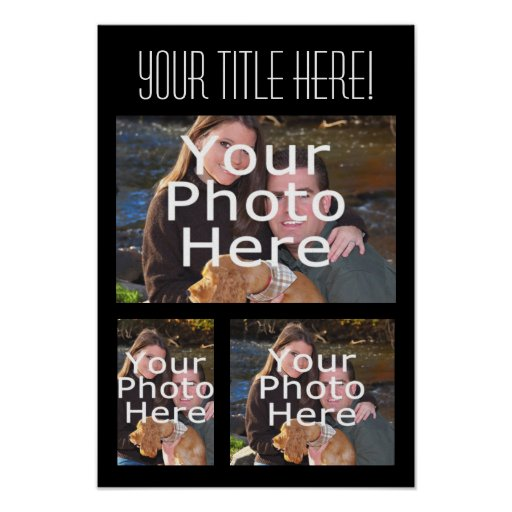 Poster de encargo del collage de la foto, tres fot