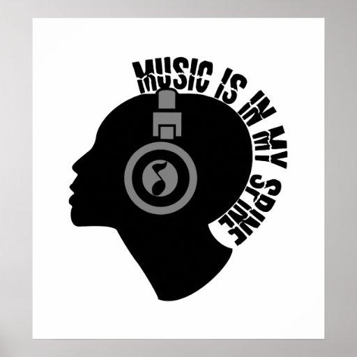 Poster de encargo del color de la música
