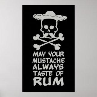 Poster de encargo del color del bigote del ron