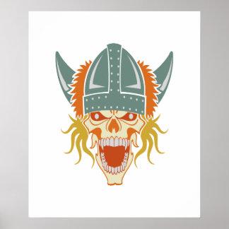 Poster de encargo del color del cráneo de VIKING