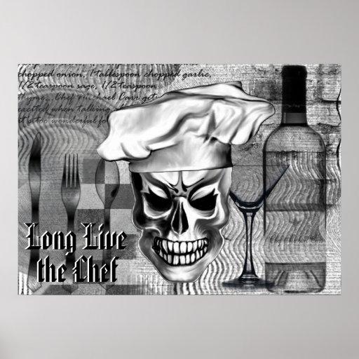 Poster de encargo del cráneo del cocinero: Vive de