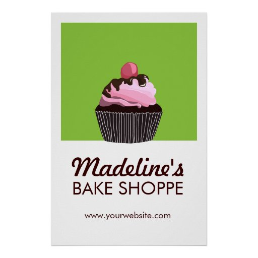 Poster de encargo del negocio de la panadería de l