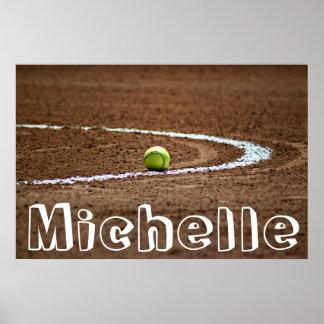 Poster de encargo del softball