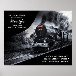 Poster de encargo del tren de no. 45 del retiro de