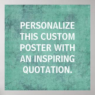 Poster de encargo personalizado, cita inspiradora
