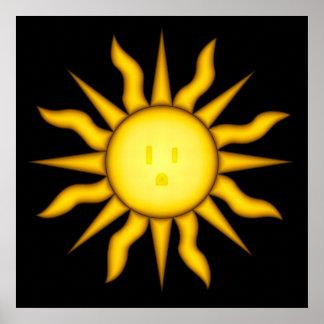 Poster de energía solar