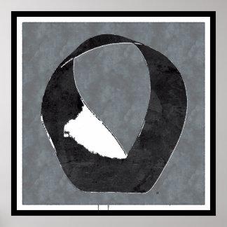 Poster de Enso del zen de la tira de Mobius