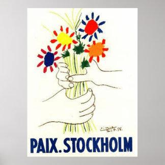Poster de Estocolmo de la paz