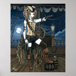 Poster de Fae de la luna del barco pirata del ciel
