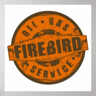 Poster de Firebird de la muestra del vintage