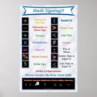 Poster de firma de la matemáticas