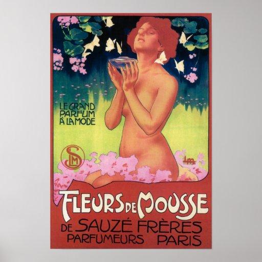 Poster de Fleurs de Mousse Perfume