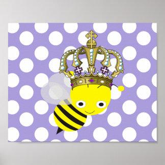 Poster de Frameable del lunar de la abeja reina