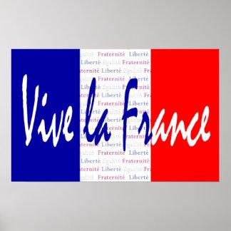 Poster de Francia del La de Vive, comida francesa,