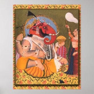 Poster de Ganesh conveniente para enmarcar o la ex